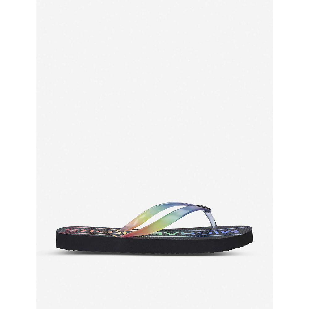 マイケル コース MICHAEL MICHAEL KORS レディース シューズ・靴 ビーチサンダル【Logo-print rubber flip-flops】Blk/other