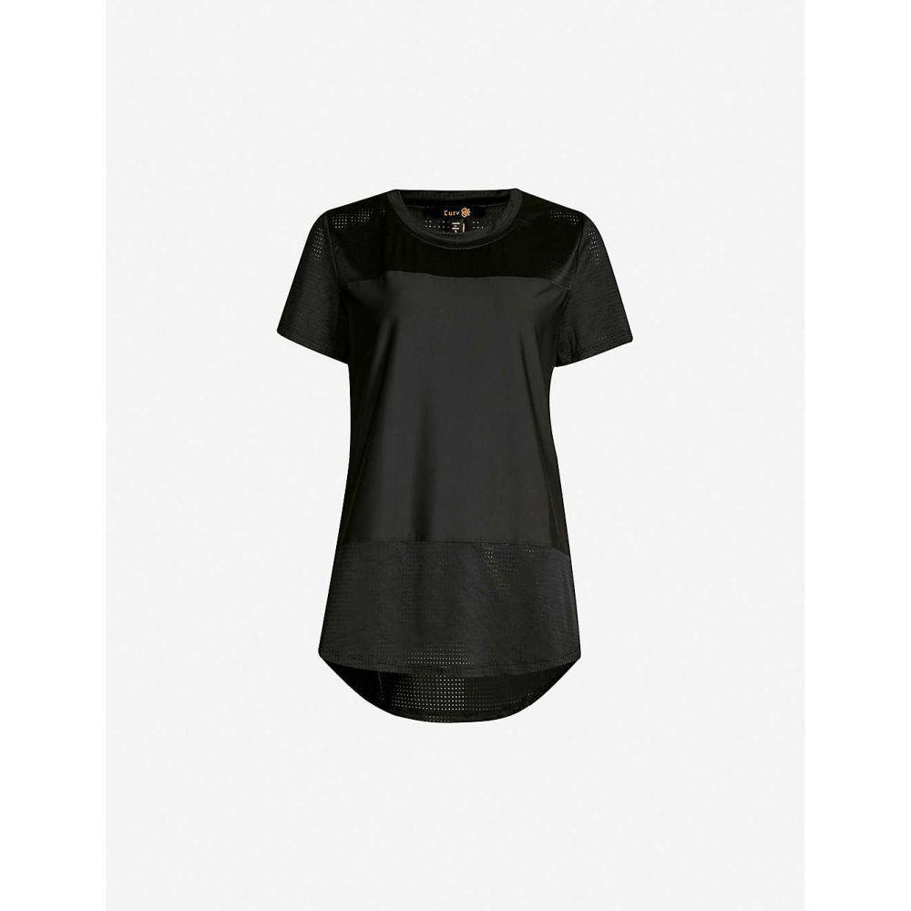 ラーブ LURV レディース トップス Tシャツ【State of Mind stretch-jersey T-shirt】Black