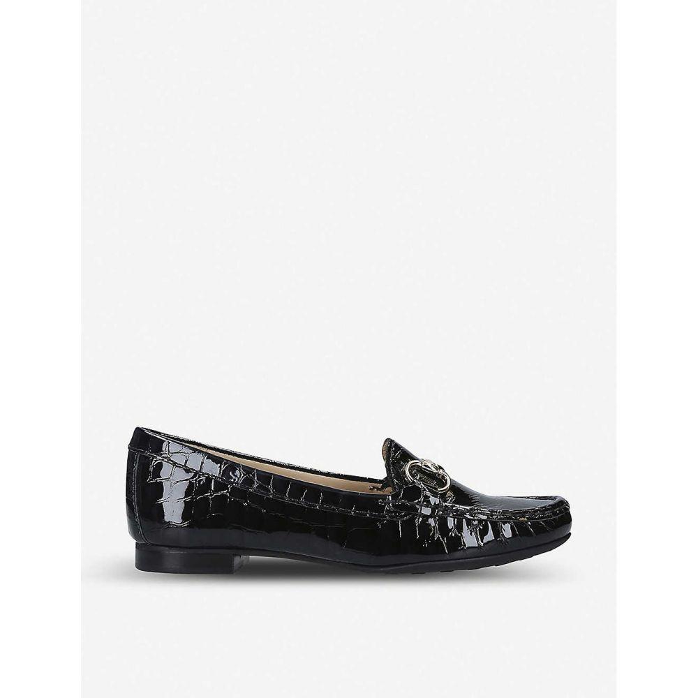 カーヴェラコンフォート CARVELA COMFORT レディース シューズ・靴 ローファー・オックスフォード【Cindy patent-leather loafers】Black