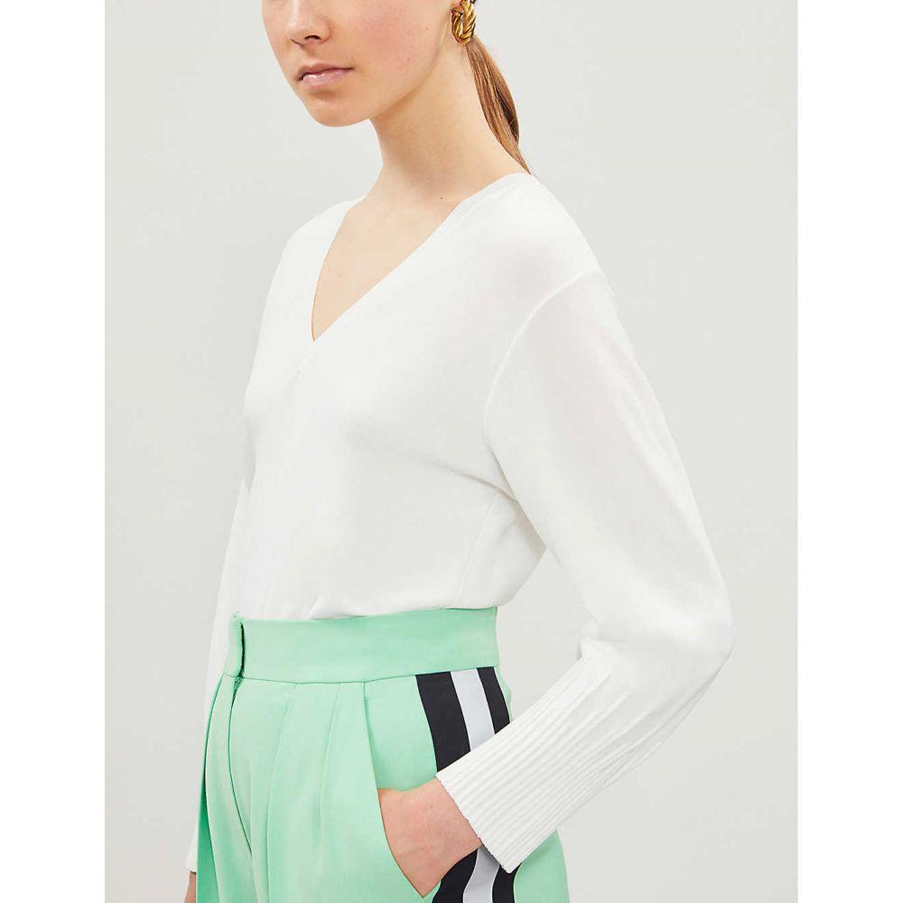 3//4 Sleeves Size 12 Ladies New George Super Soft V Neck Fine Knit Jumper Ivory
