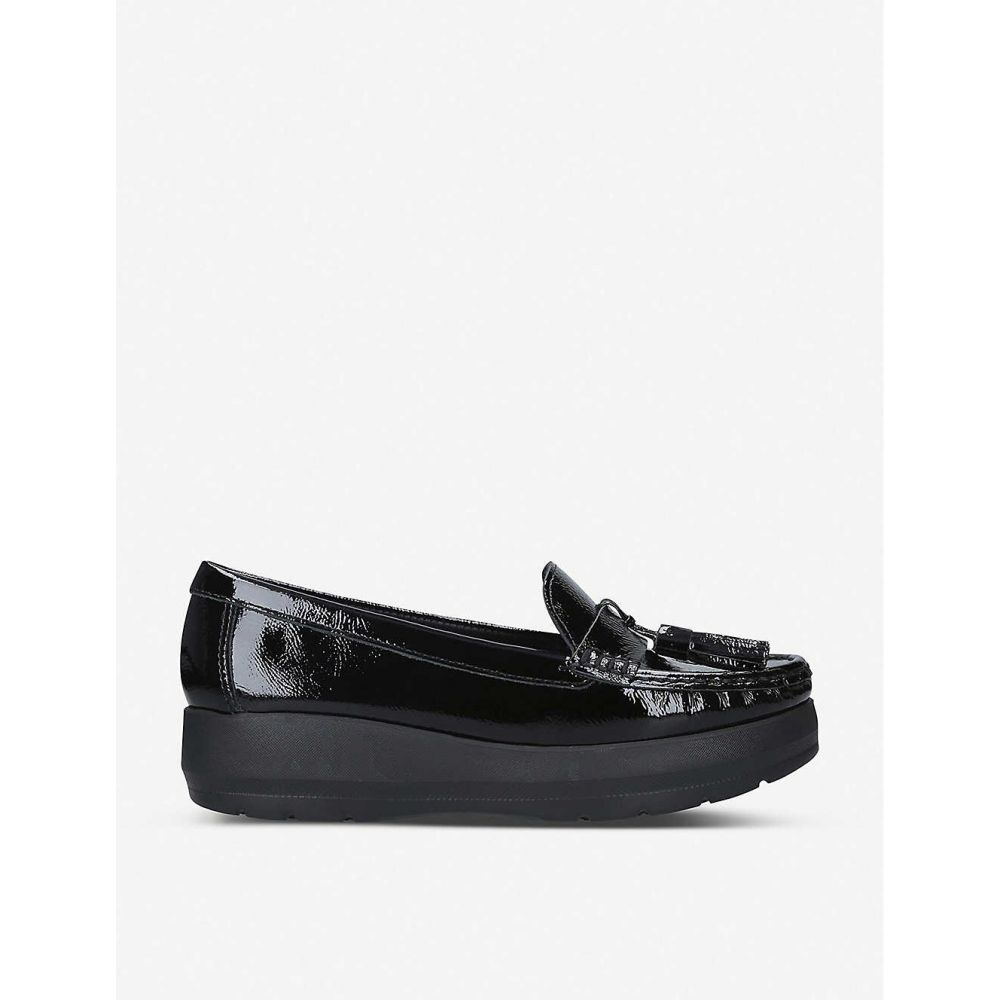 カーヴェラコンフォート CARVELA COMFORT レディース シューズ・靴 ローファー・オックスフォード【Camille patent-leather loafers】Black