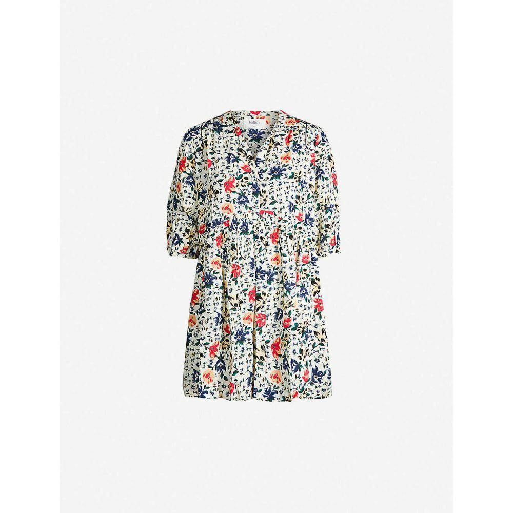 バッシュ BA&SH レディース ワンピース・ドレス ワンピース【Pascou floral-print crepe dress】Ecru