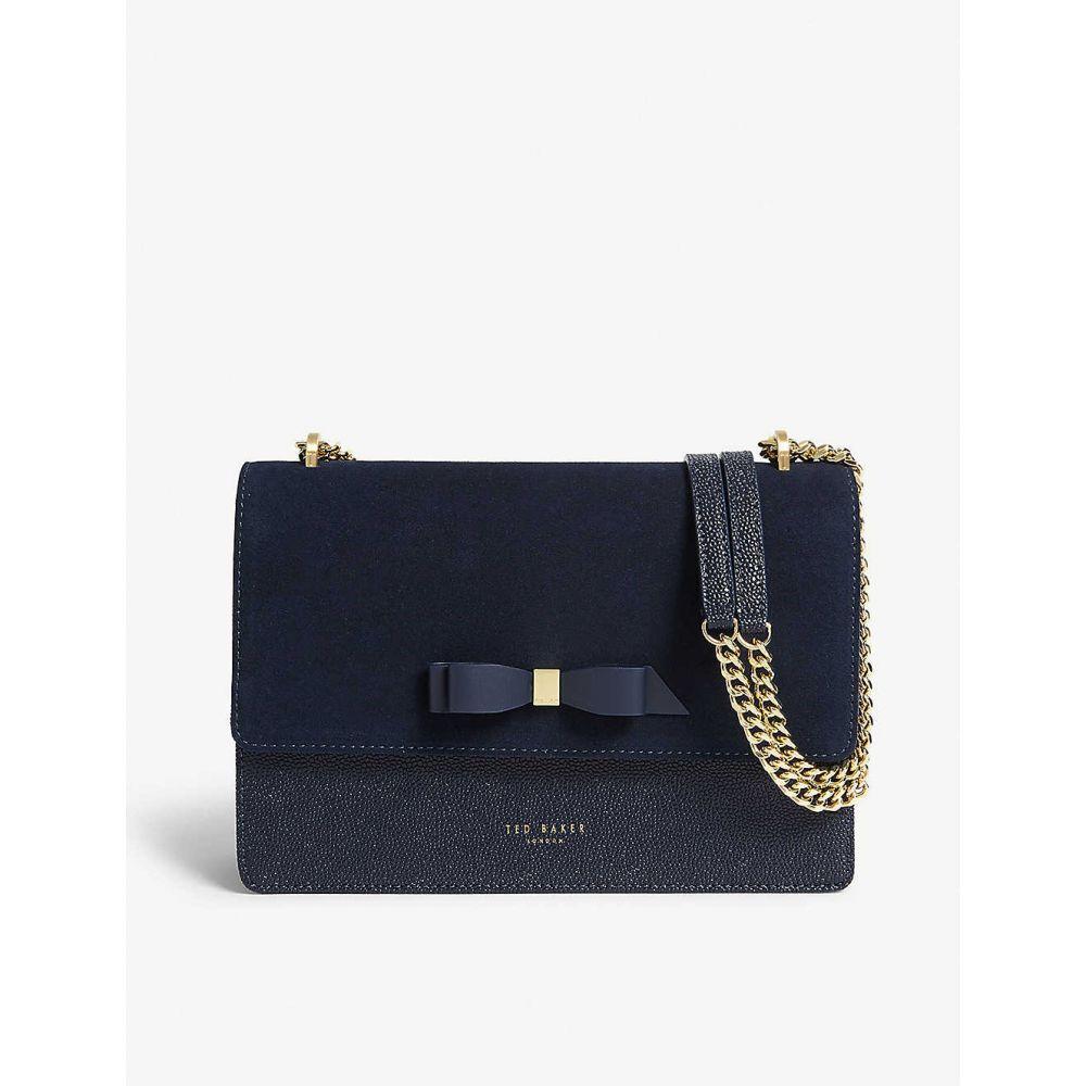 テッドベーカー TED BAKER レディース バッグ ショルダーバッグ【Leather and suede cross-body bag】Dk-blue