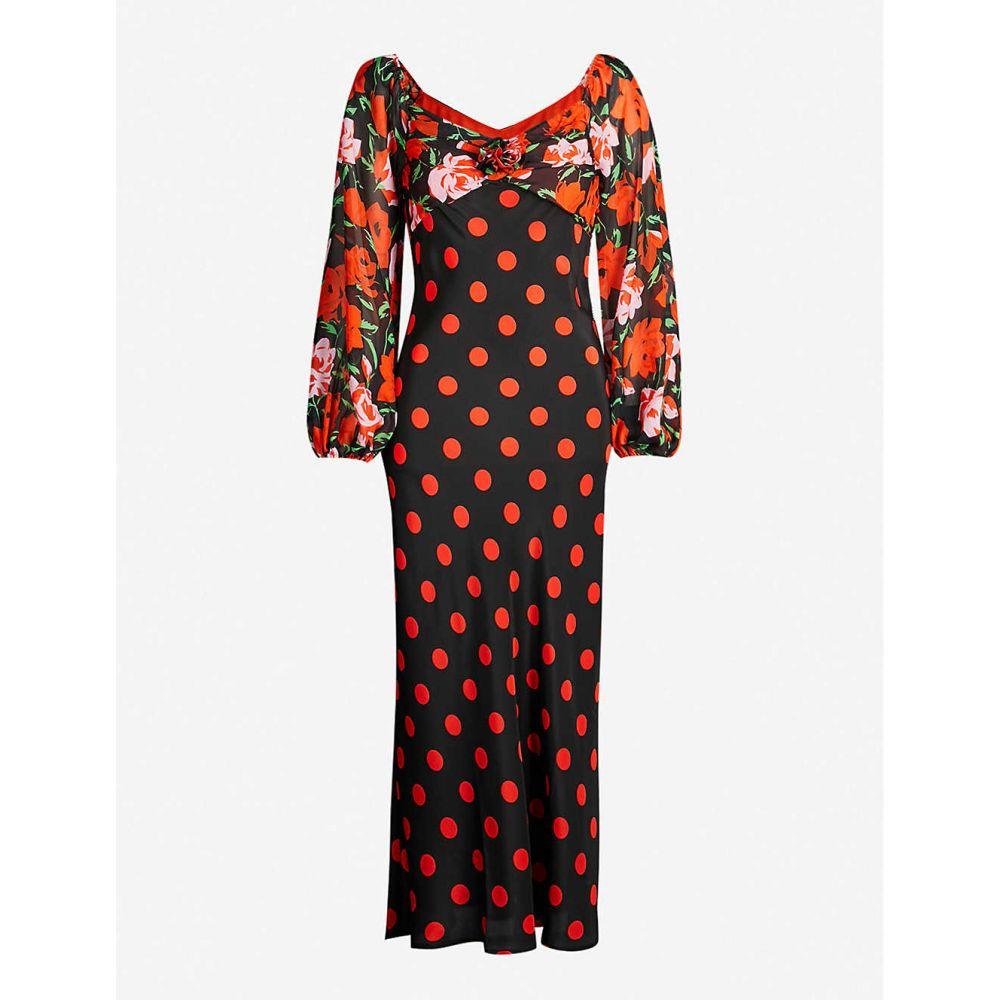 リキソ RIXO レディース ワンピース・ドレス ワンピース【Josephine silk midi dress】Large spot