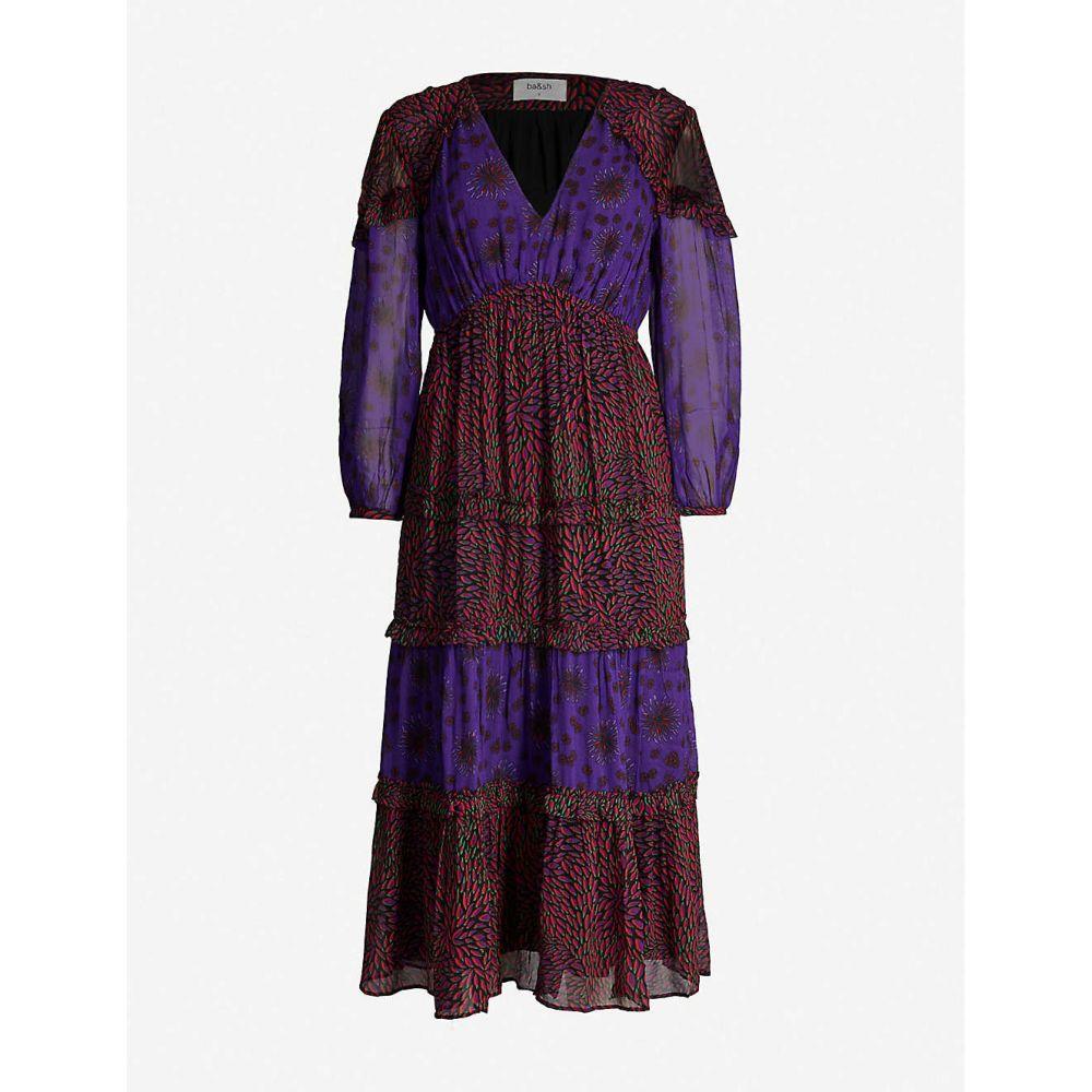 バッシュ BA&SH レディース ワンピース・ドレス ワンピース【Gypsie chiffon midi dress】Purple
