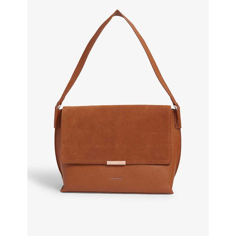 テッドベーカー TED BAKER レディース バッグ ショルダーバッグ【Louissa suede and leather shoulder bag】Brown
