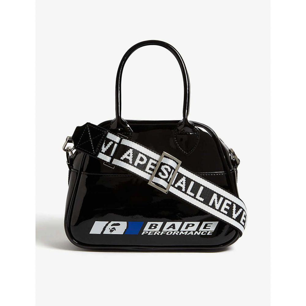 ベイプ BAPE レディース バッグ ショルダーバッグ【Logo patent shoulder bag】Black