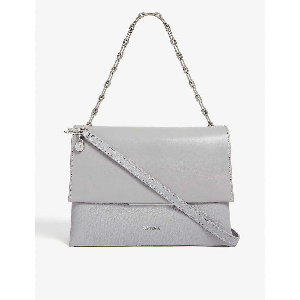 テッドベーカー TED BAKER レディース バッグ ショルダーバッグ【Diaana leather shoulder bag】Lt-grey