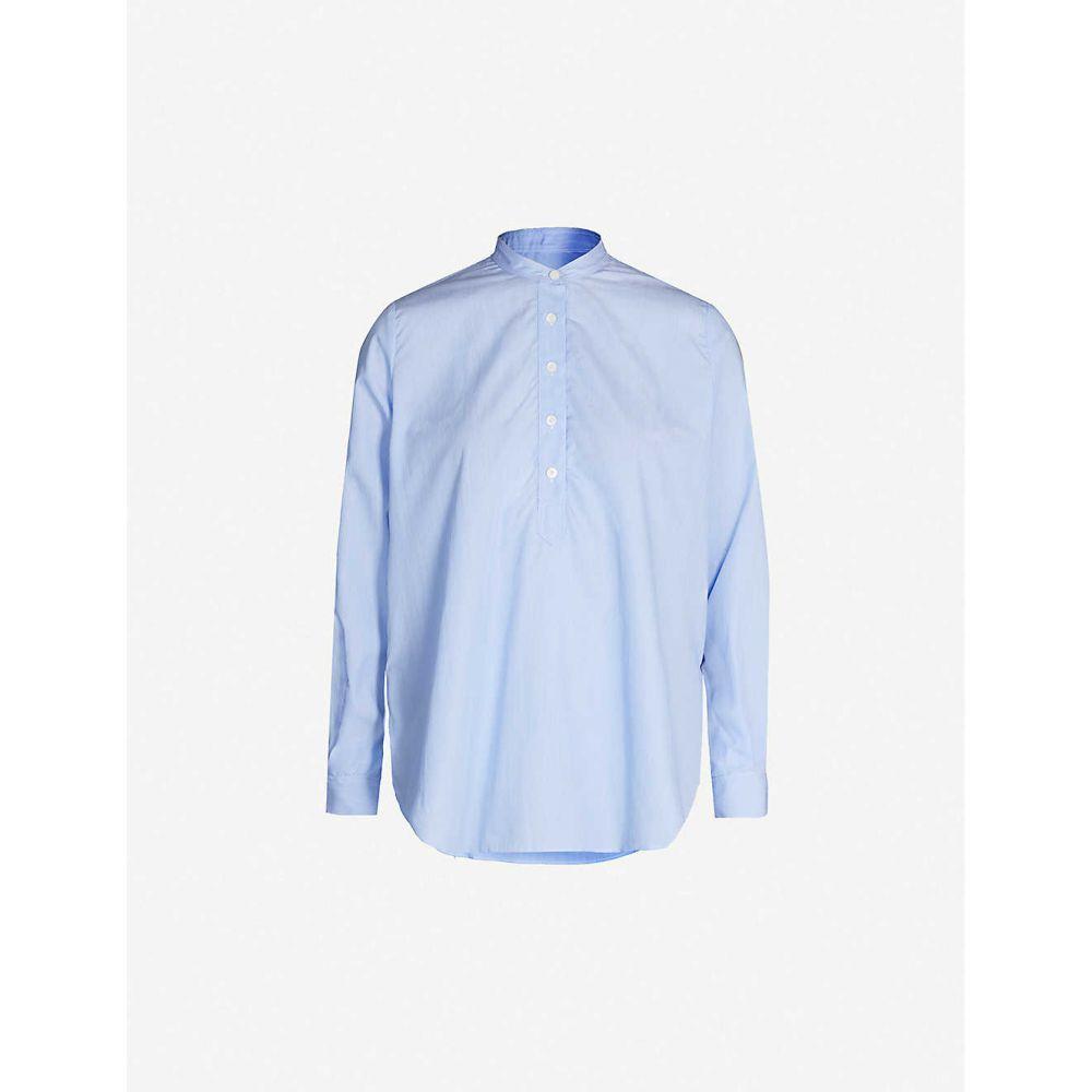 ジョゼフ JOSEPH レディース トップス ブラウス・シャツ【Luke cotton pinstripe blouse】Blue
