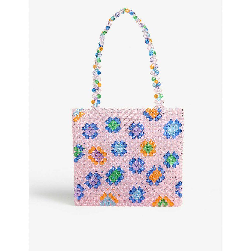 スーザンアレクサンドラ SUSAN ALEXANDRA レディース バッグ トートバッグ【Soraya multi-coloured beaded tote bag】Pink