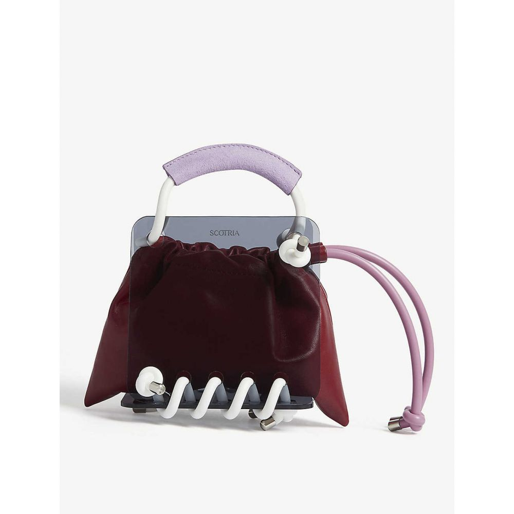 スコトリア SCOTRIA レディース バッグ トートバッグ【Berg tote bag】Crimson pouch + white