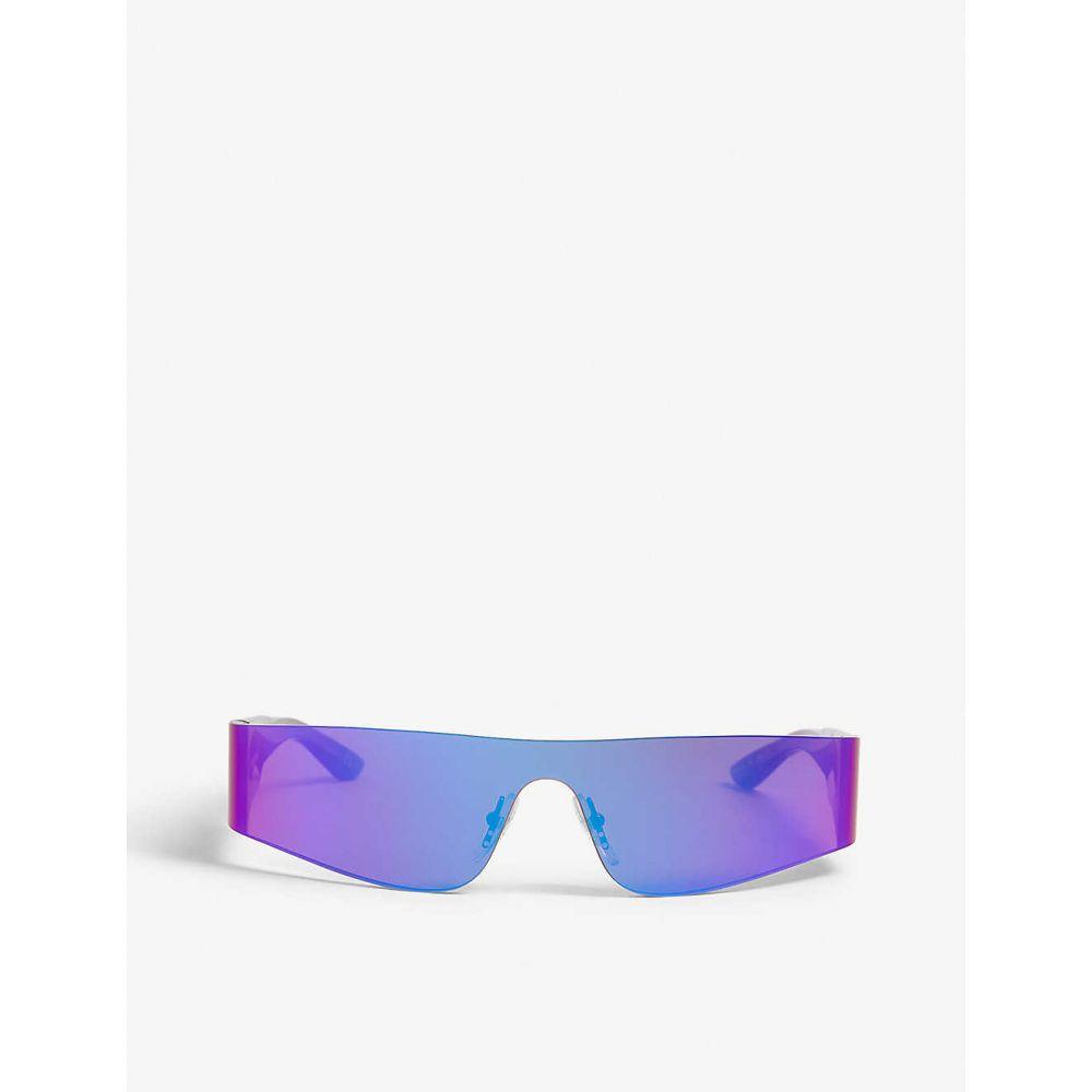 バレンシアガ BALENCIAGA レディース メガネ・サングラス【BB0041S rectangle-frame sunglasses】Purple