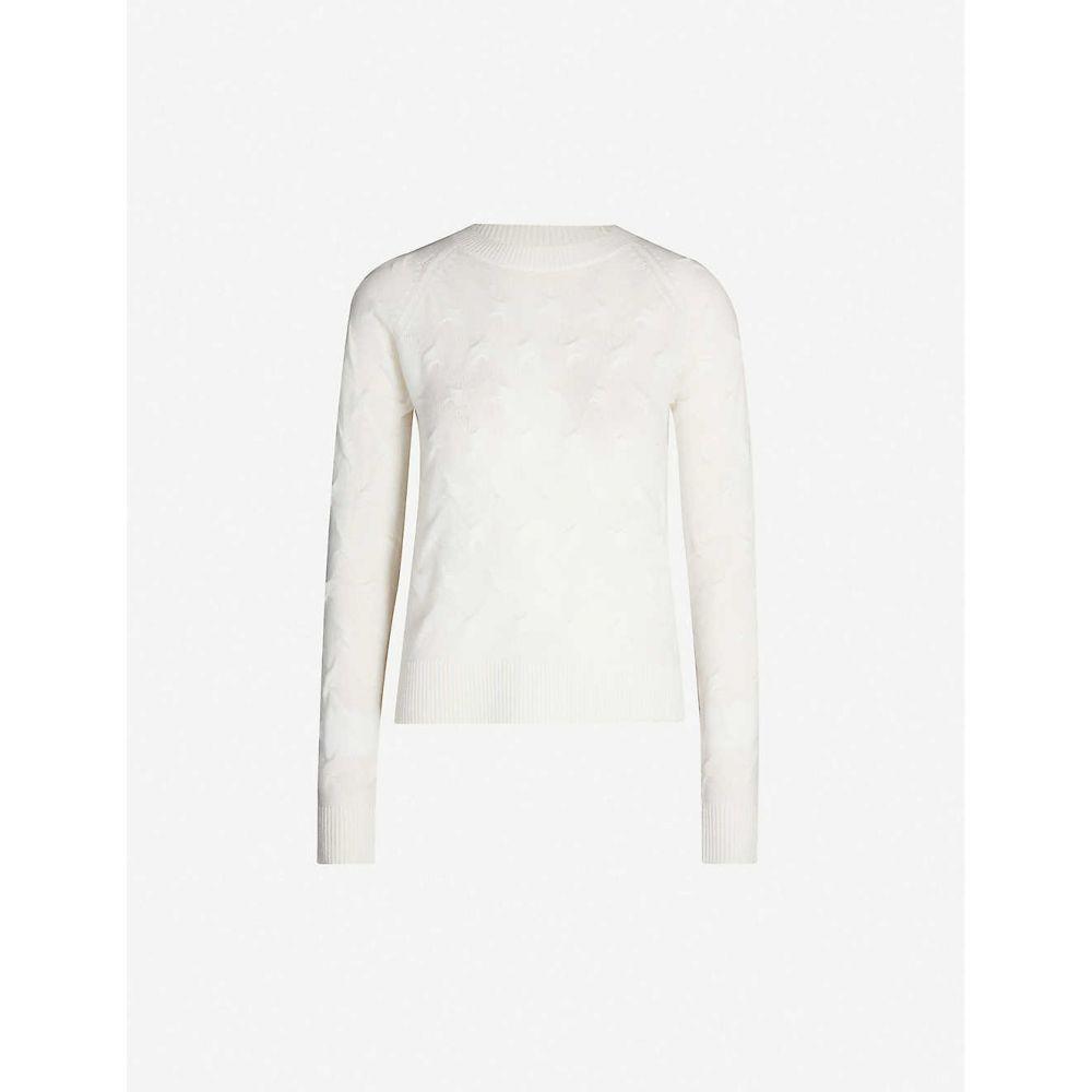 セオリー THEORY レディース トップス ニット・セーター【Tucked woven-pattern cashmere-knit jumper】Ivory