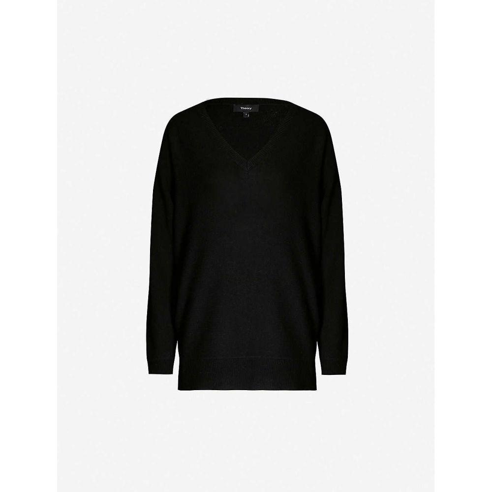 セオリー THEORY レディース トップス ニット・セーター【Dolman cashmere-knit jumper】Black