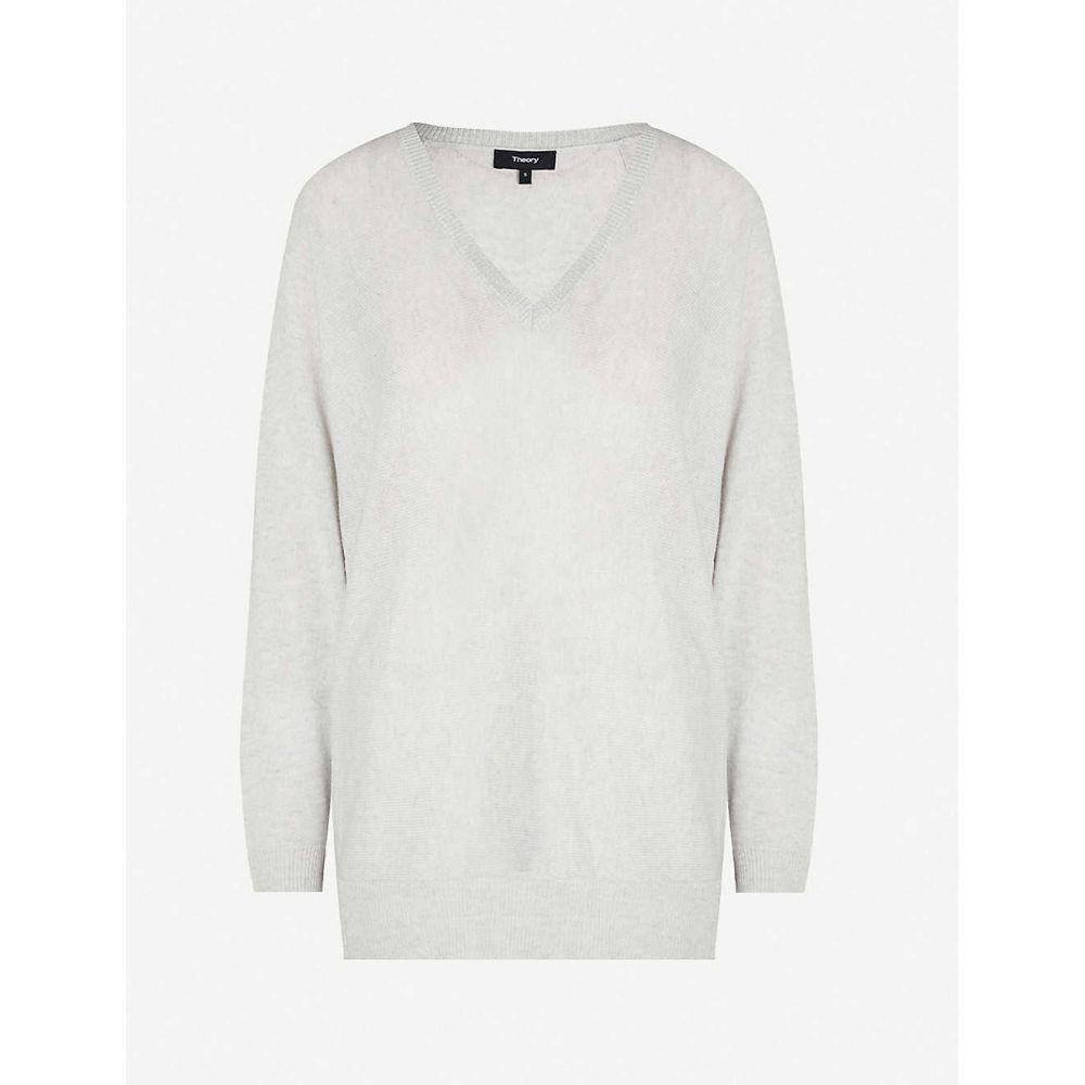 セオリー THEORY レディース トップス ニット・セーター【Dolman cashmere-knit jumper】Pale grey