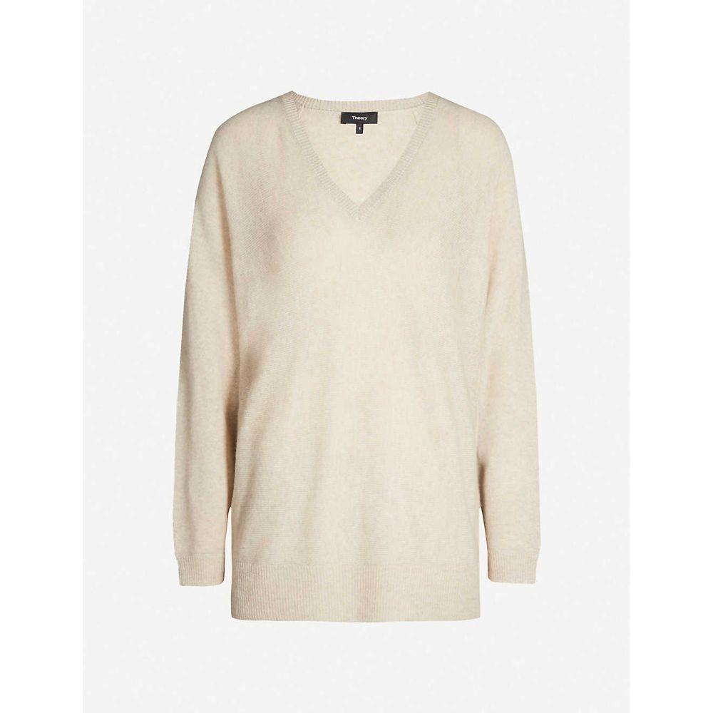 セオリー THEORY レディース トップス ニット・セーター【Dolman cashmere-knit jumper】Natural linen