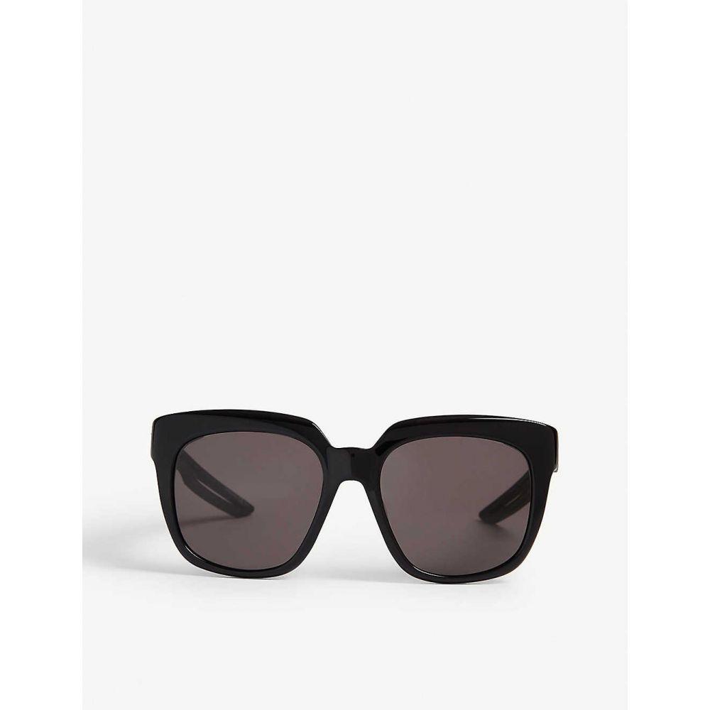 バレンシアガ BALENCIAGA レディース メガネ・サングラス【BB0025S square-frame sunglasses】Black