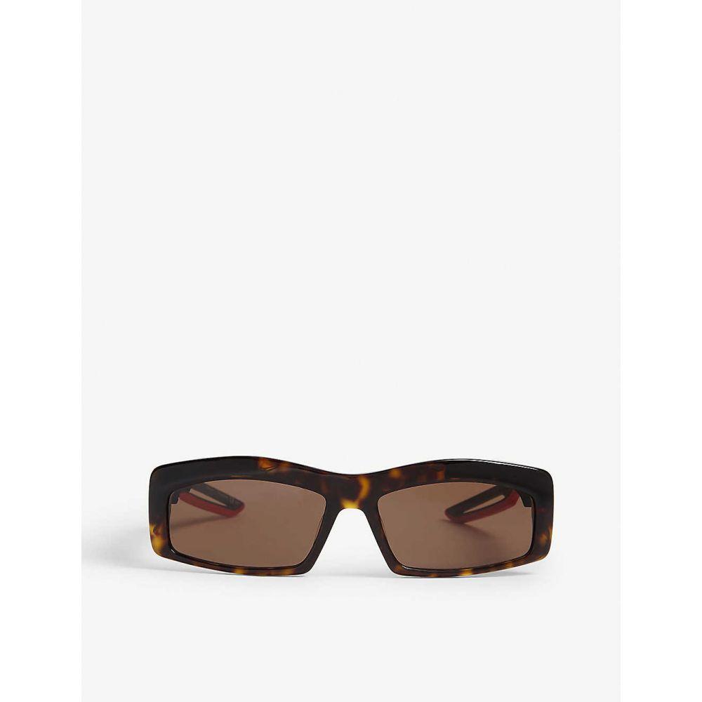 バレンシアガ BALENCIAGA レディース メガネ・サングラス【Hybrid Rectangle acetate sunglasses】Havana