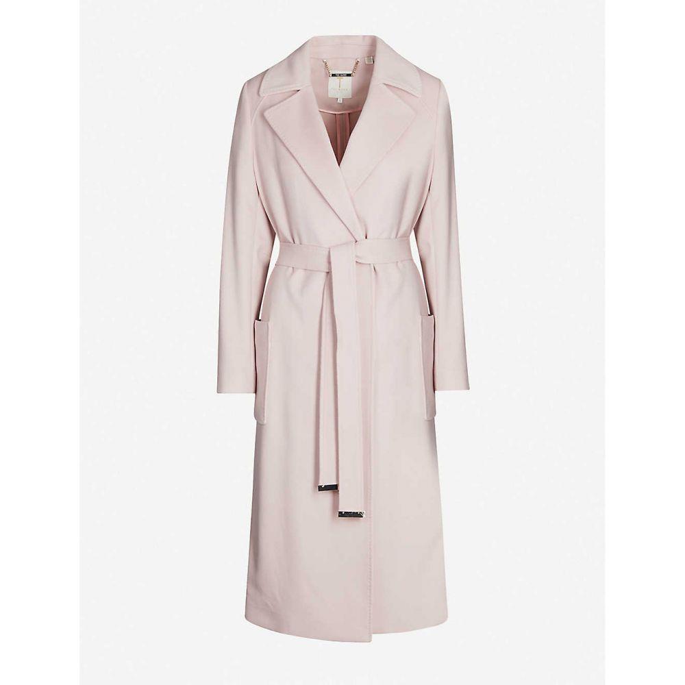 テッドベーカー TED BAKER レディース アウター コート【Longline felt wrap coat】Dusky-pink