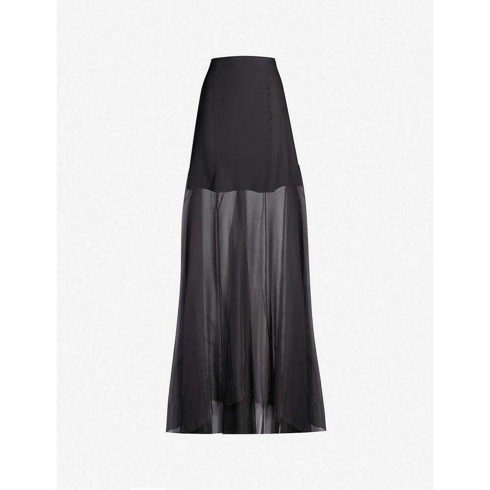 ウマル アシム OMER ASIM レディース スカート ロング・マキシ丈スカート【Haraza high-rise silk maxi skirt】Black