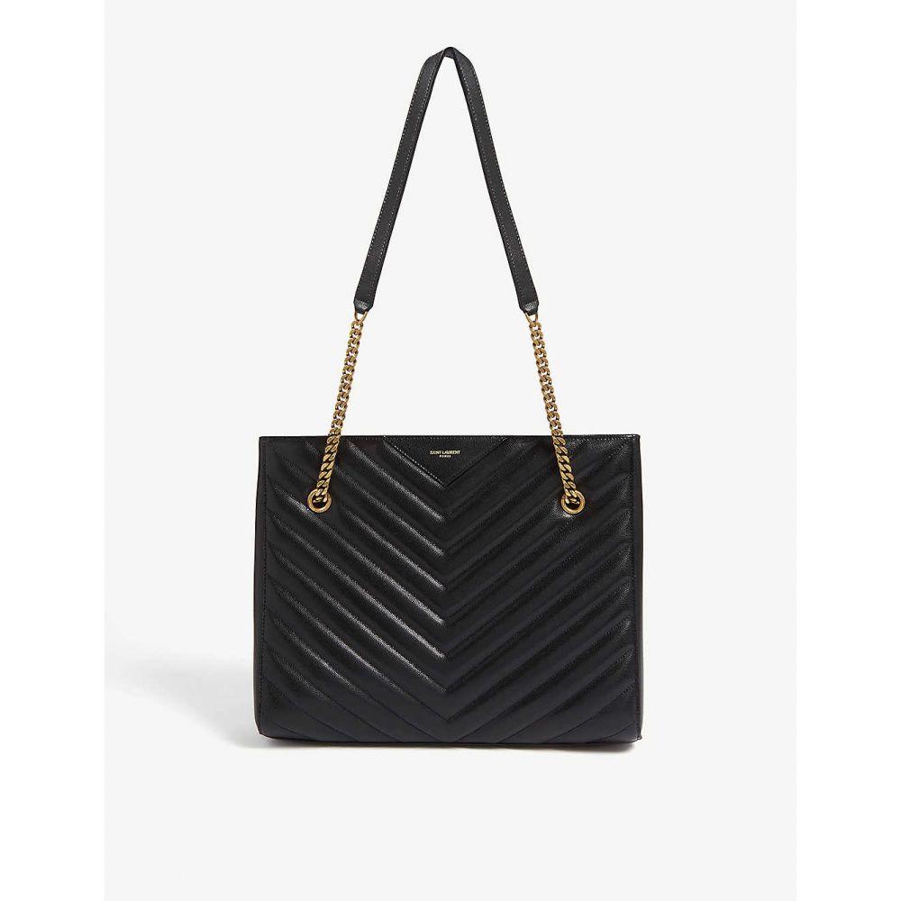 イヴ サンローラン SAINT LAURENT レディース バッグ トートバッグ【Tribeca quilted leather shopper】Black