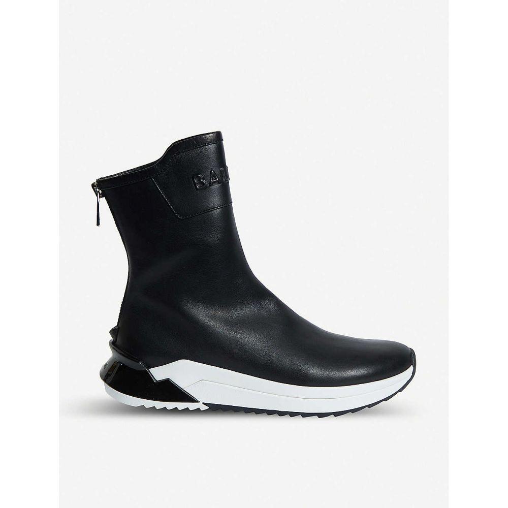 バルマン BALMAIN レディース シューズ・靴 スリッポン・フラット【Glove leather trainers】Blk/white