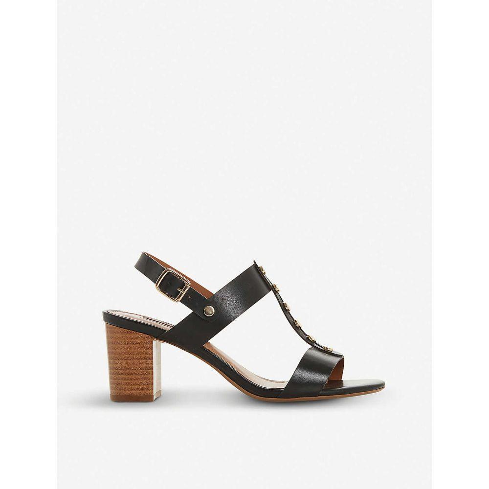 デューン DUNE レディース サンダル・ミュール シューズ・靴【jerrys stud trim leather sandals】Black-leather