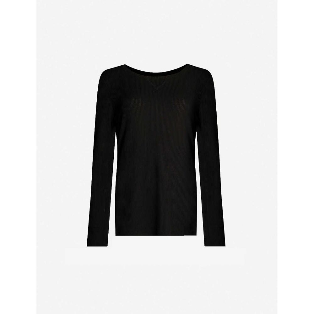 ローナジェーン LORNA JANE レディース トップス 【easy wear split-back ribbed stretch-jersey top】Black
