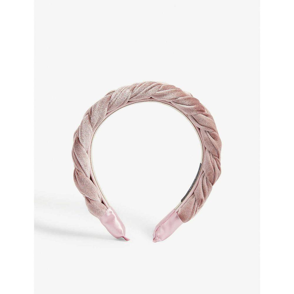レリキア RELIQUIA レディース ヘアアクセサリー ヘッドバンド【aurora velvet headband】Pink pearl