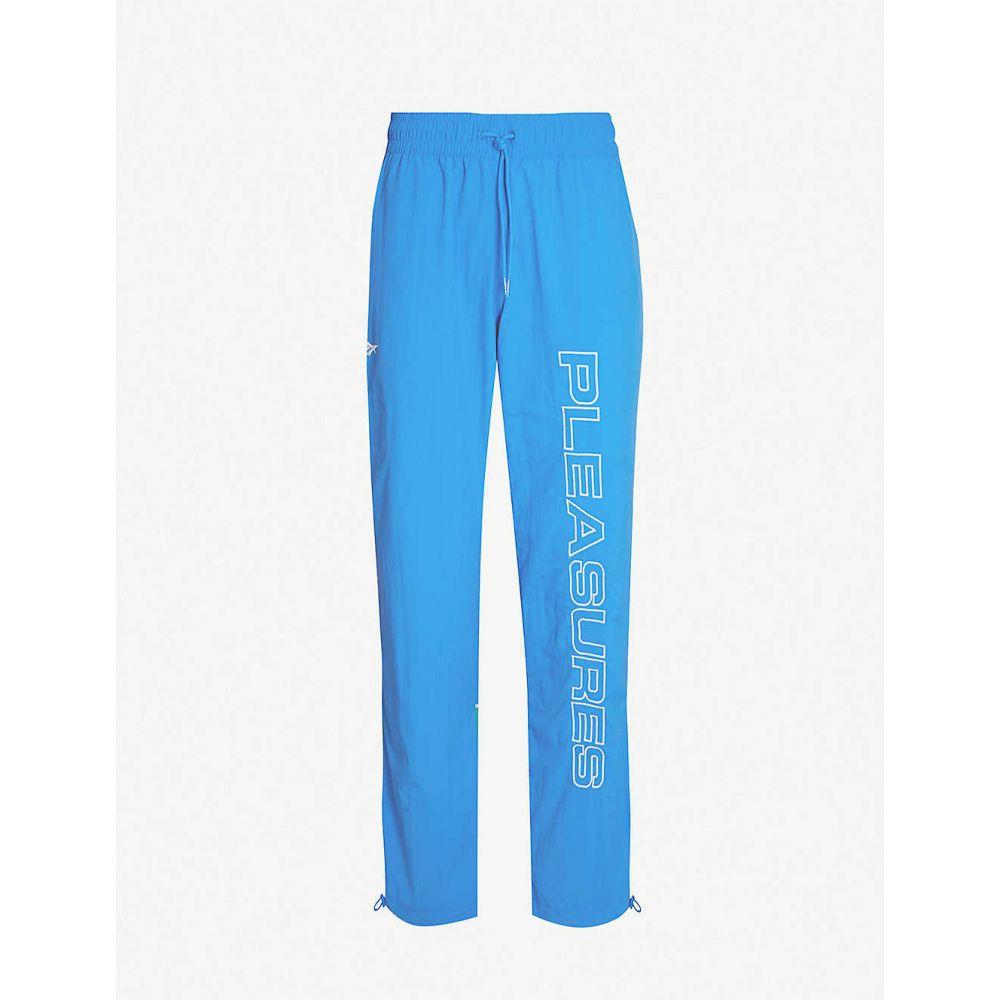 リーボック REEBOK メンズ ボトムス・パンツ 【pleasures graphic-print shell jogging bottoms】Vital blue/pine green
