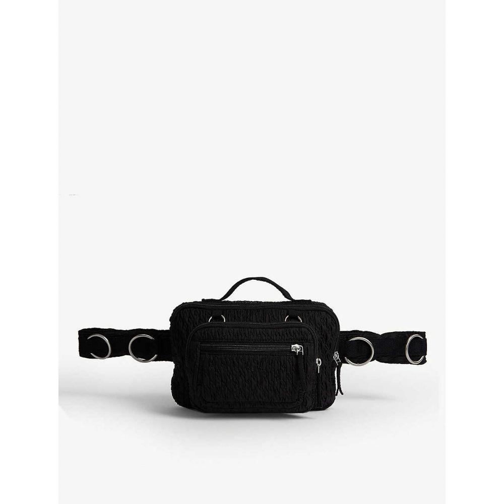 イーストパック EASTPAK メンズ ボディバッグ・ウエストポーチ バッグ【raf simmons nylon belt bag】Black matlasse