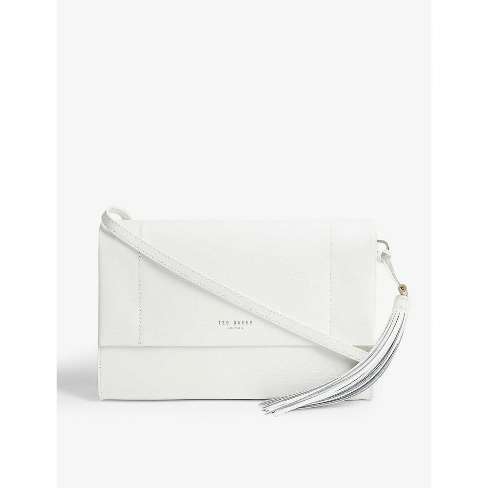 テッドベーカー TED BAKER レディース ショルダーバッグ バッグ【leather cross-body bag】White