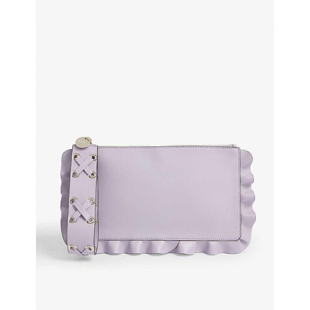 ヴァレンティノ RED VALENTINO レディース ポーチ 【ruffle leather pouch bag】Lilac