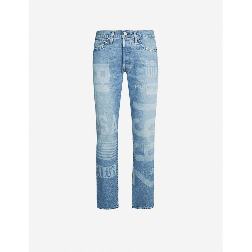 ラルフ ローレン POLO RALPH LAUREN メンズ ジーンズ・デニム ボトムス・パンツ【varick graphic-embellished slim-fit jeans】Blue