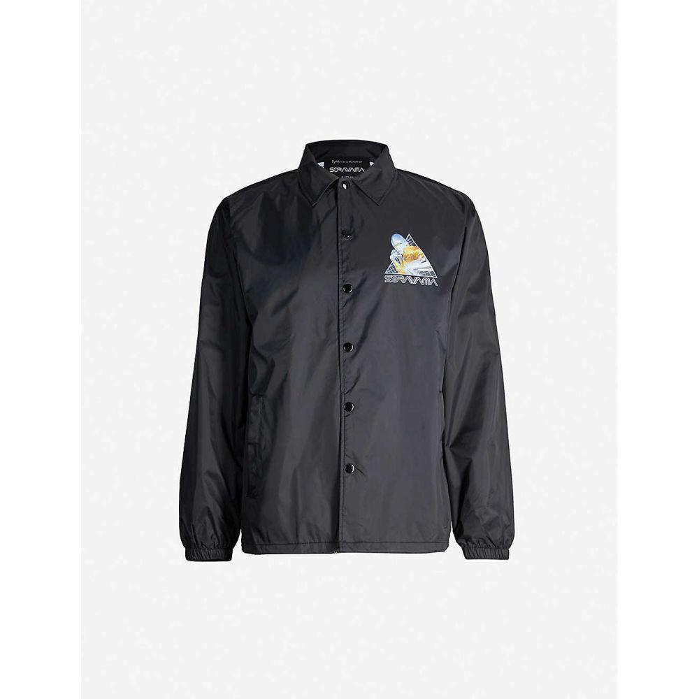 ソラヤマ SORAYAMA メンズ ジャケット コーチジャケット アウター【sexy robot woven coach jacket】Black