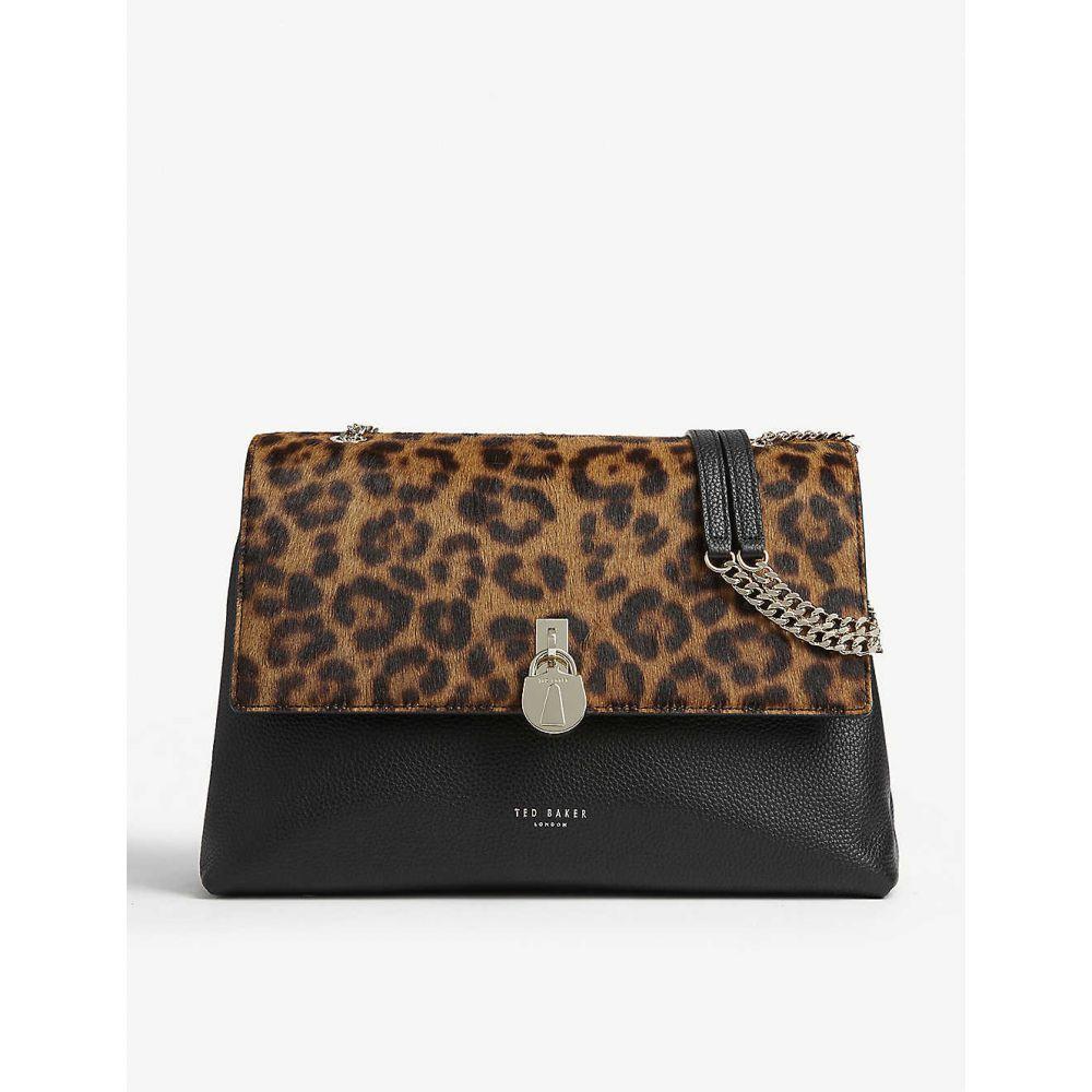 テッドベーカー TED BAKER レディース ショルダーバッグ バッグ【cliarra leopard print leather shoulder bag】Black