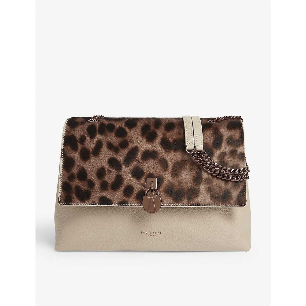 テッドベーカー TED BAKER レディース ショルダーバッグ バッグ【cliarra leopard print leather shoulder bag】Taupe