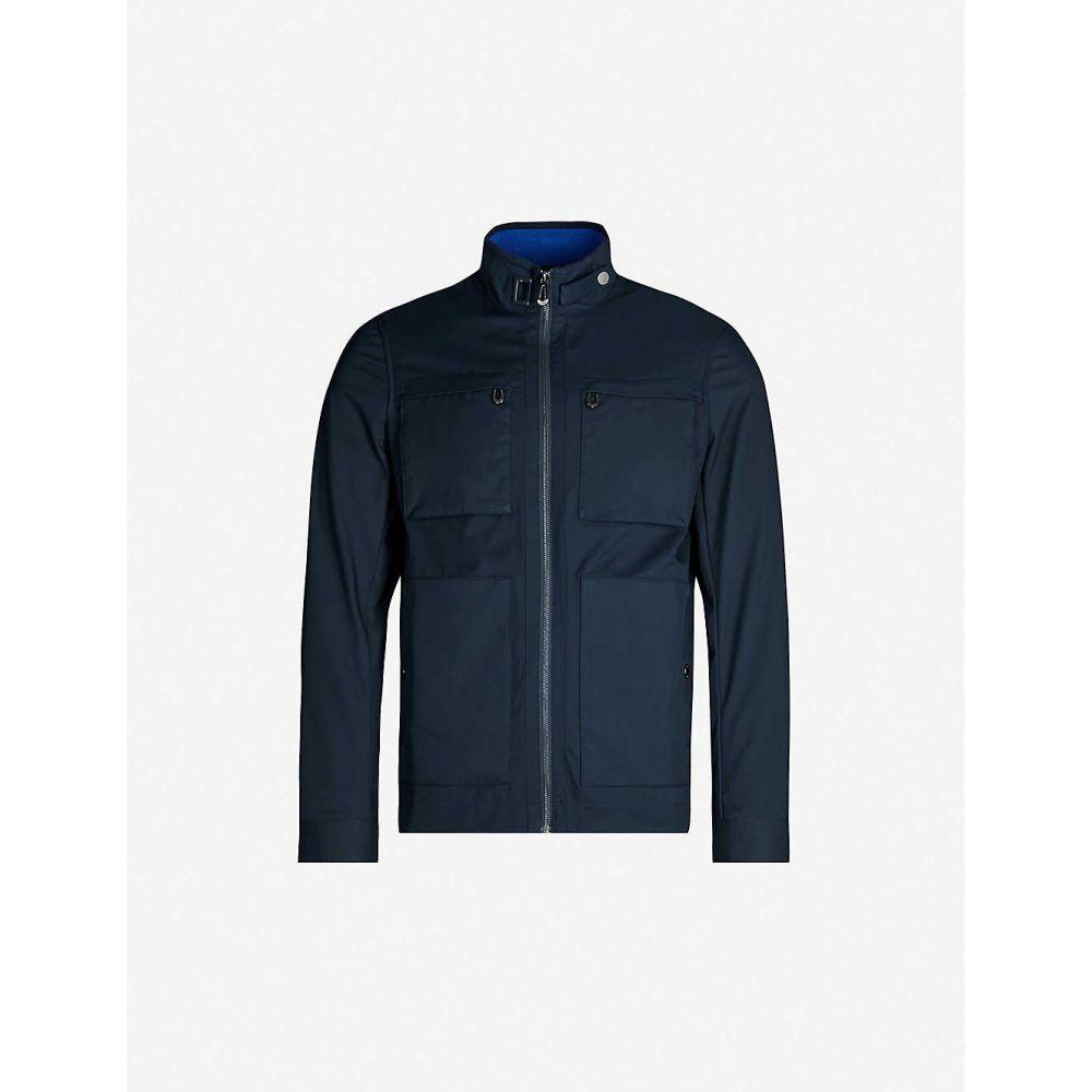 テッドベーカー TED BAKER メンズ ジャケット シェルジャケット アウター【patch-pocket shell field jacket】Navy