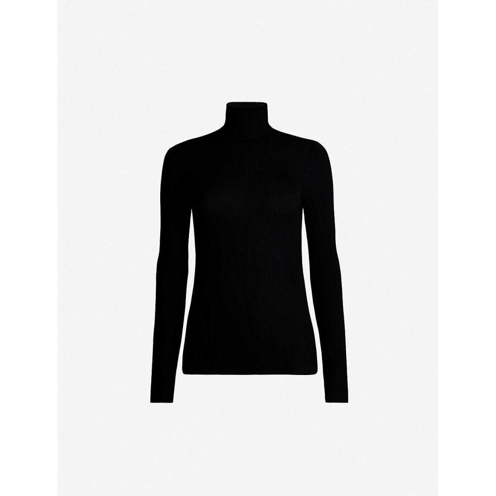 ウォルフォード WOLFORD レディース ニット・セーター トップス【turtleneck fine-rib merino wool jumper】Black