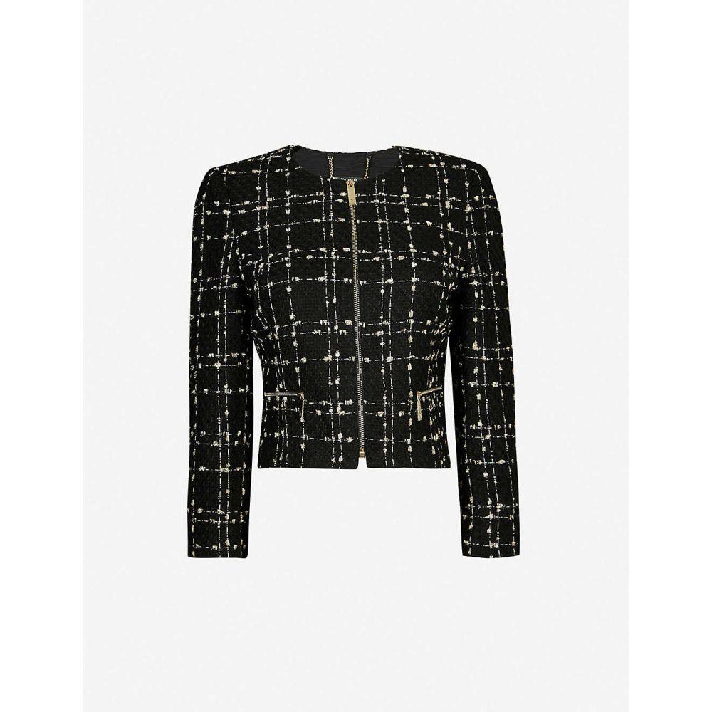 テッドベーカー TED BAKER レディース スーツ・ジャケット アウター【metallic boucle jacket】Black