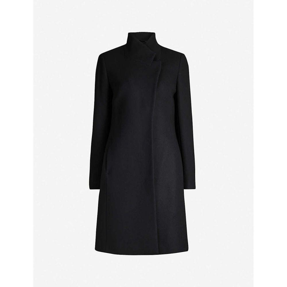リース REISS レディース コート アウター【maya slim-fit wool-blend coat】Navy