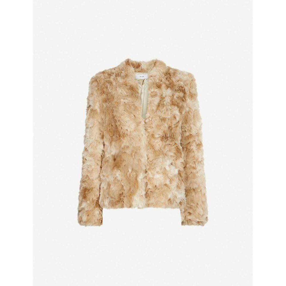 リース REISS レディース ジャケット アウター【millie faux-fur jacket】Cream