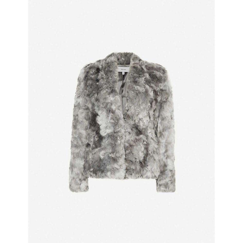 リース REISS レディース ジャケット アウター【millie faux-fur jacket】Grey