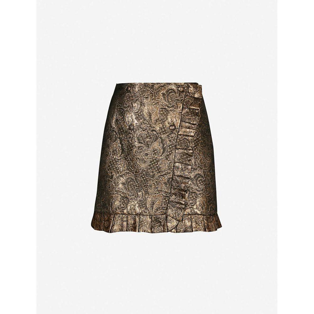 サンドロ SANDRO レディース ミニスカート スカート【brocade woven mini skirt】Gold