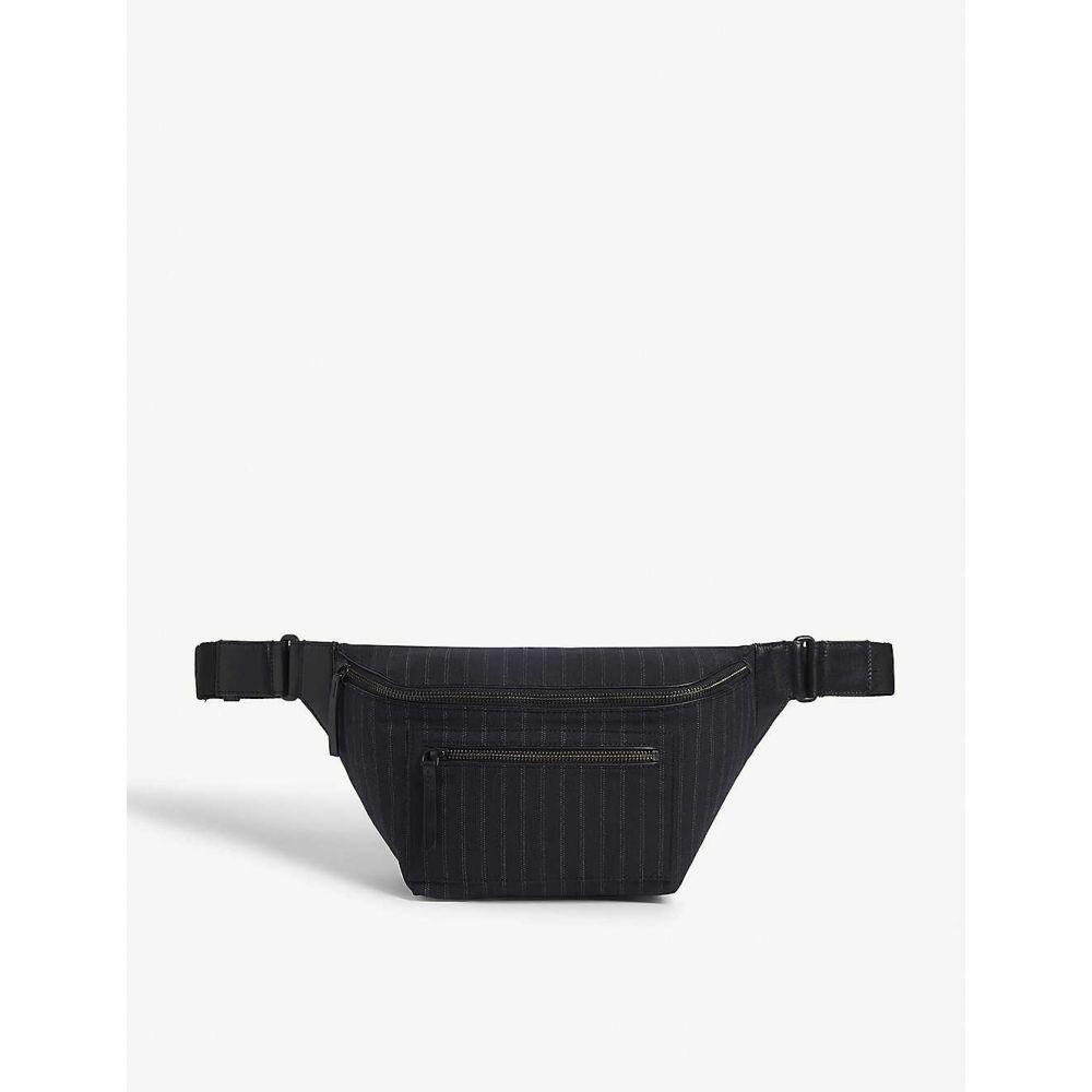 ドリス ヴァン ノッテン DRIES VAN NOTEN メンズ ボディバッグ・ウエストポーチ バッグ【pinstripe cotton-blend belt bag】Navy