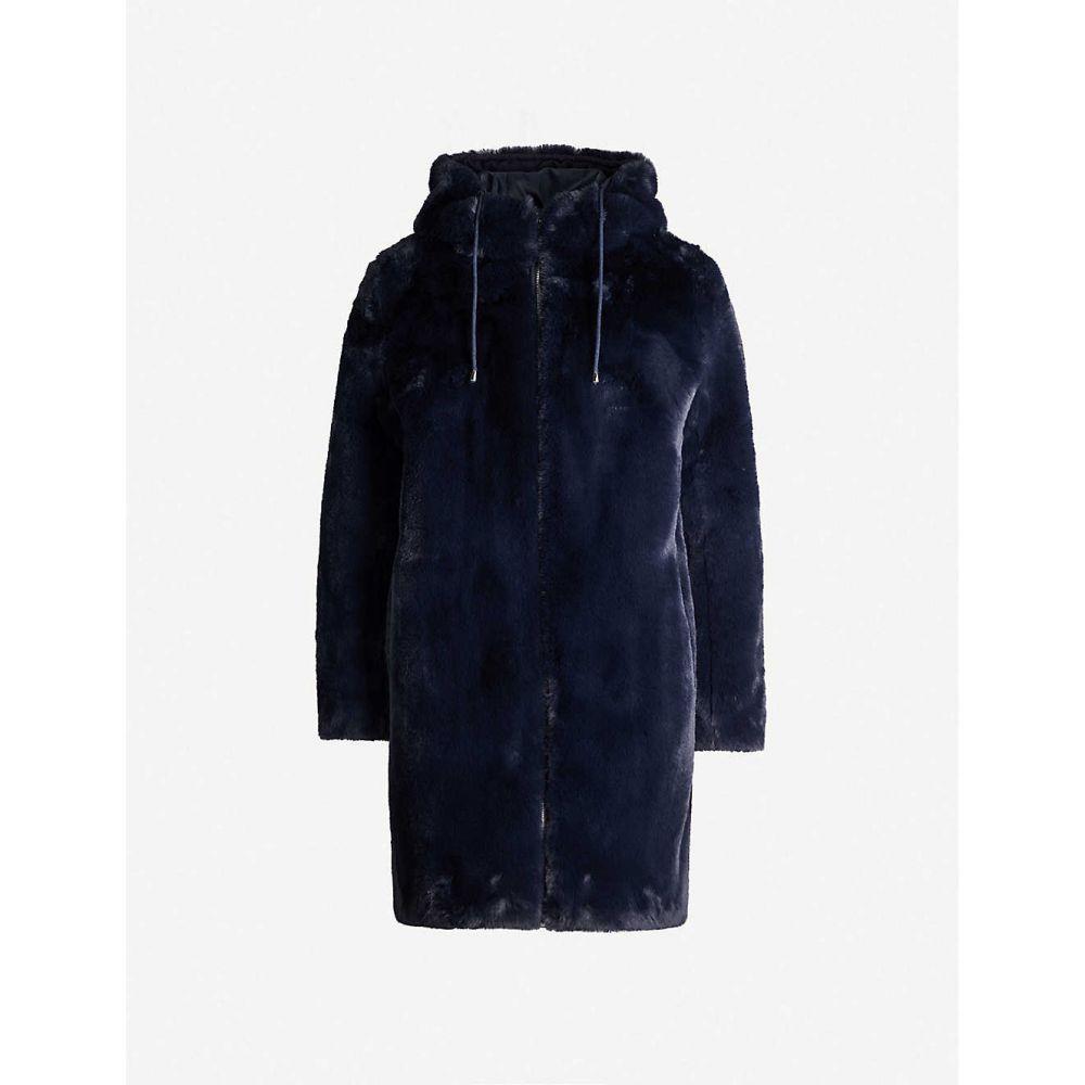 マージュ MAJE レディース コート アウター【bayalou faux-fur coat】Blue