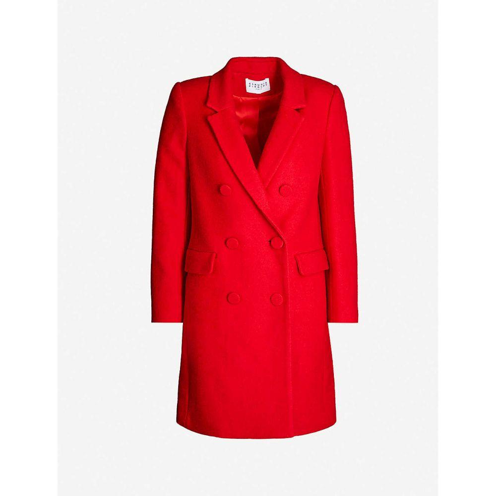 クローディ ピエルロ CLAUDIE PIERLOT レディース コート ダブルブレストコート アウター【double-breasted woven coat】Coquelicot