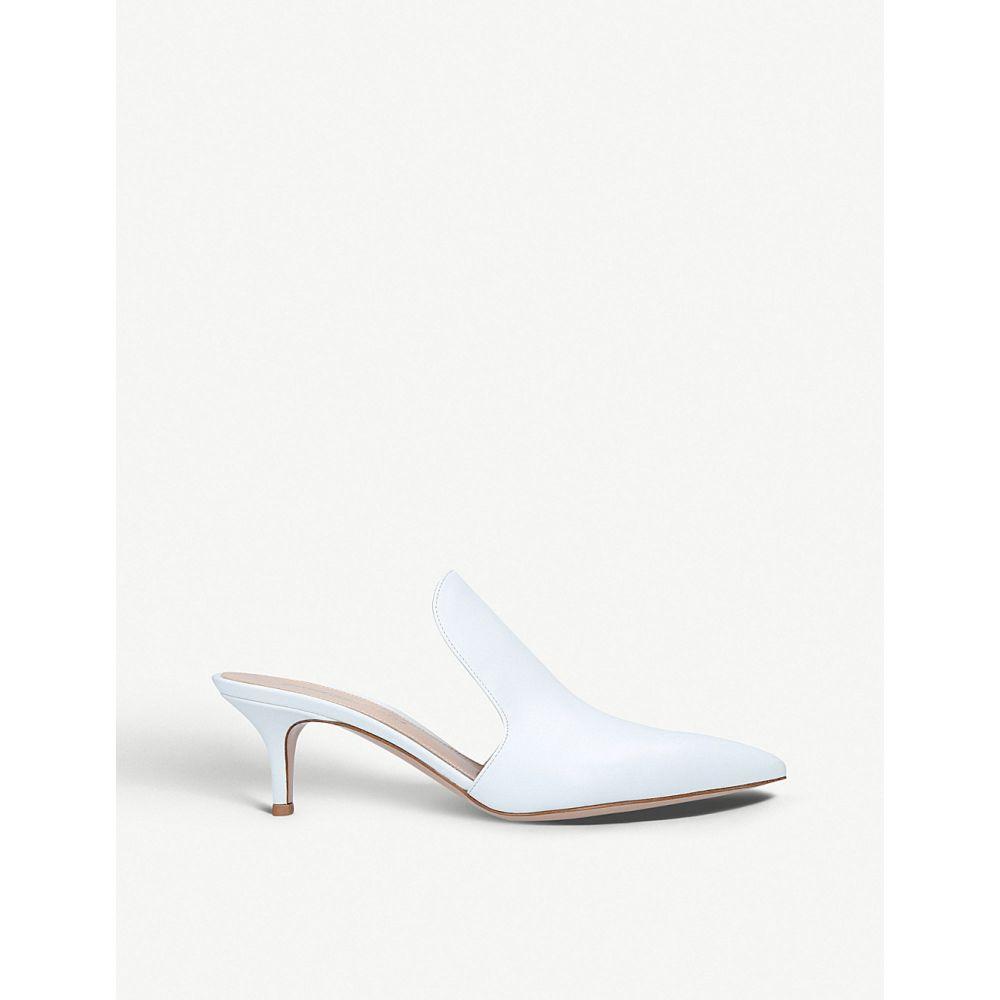 ジャンヴィト ロッシ GIANVITO ROSSI レディース サンダル・ミュール キトゥンヒール シューズ・靴【aramis 55 leather kitten heels】White