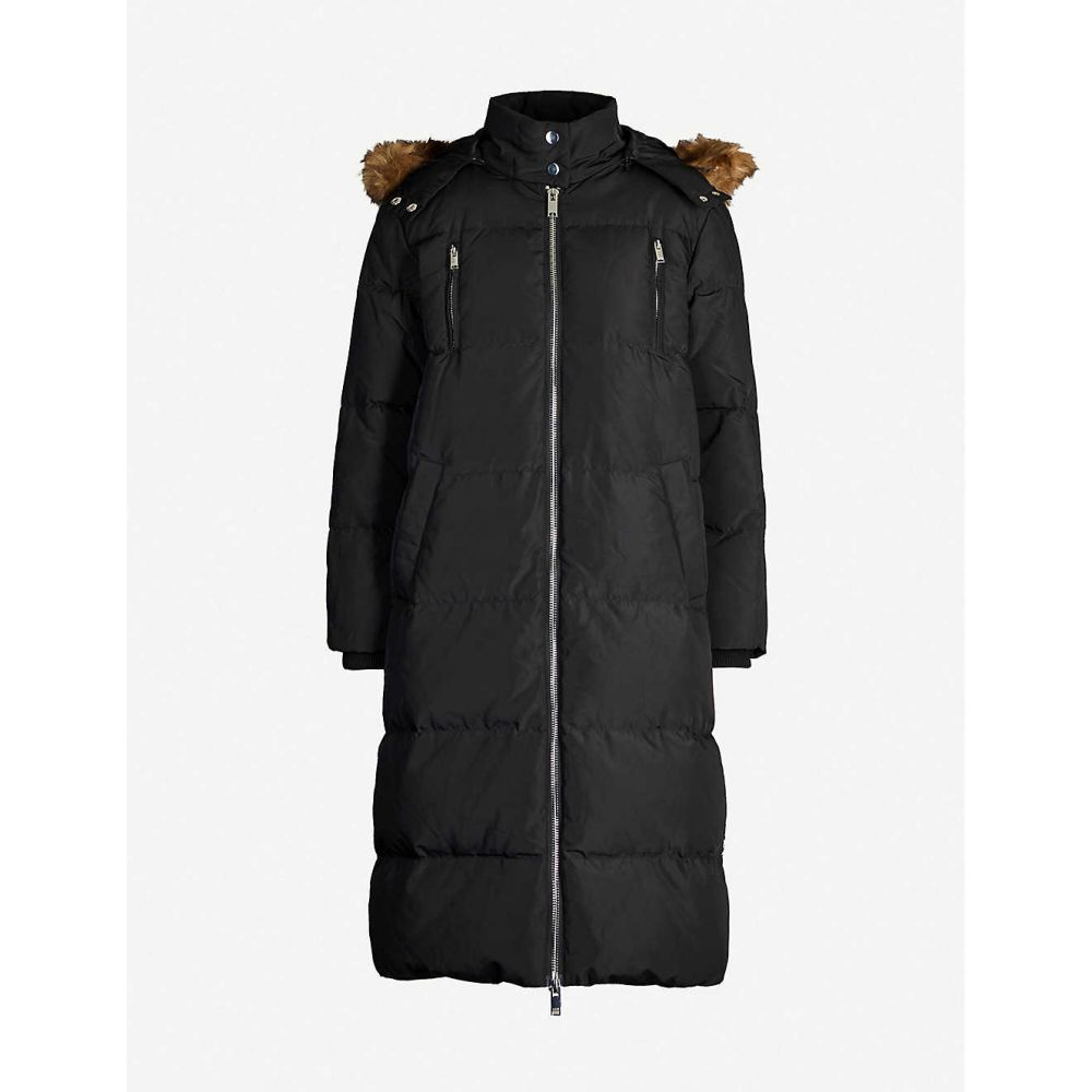 クローディ ピエルロ CLAUDIE PIERLOT レディース コート アウター【faux fur-trim hooded shell-down parka coat】Black