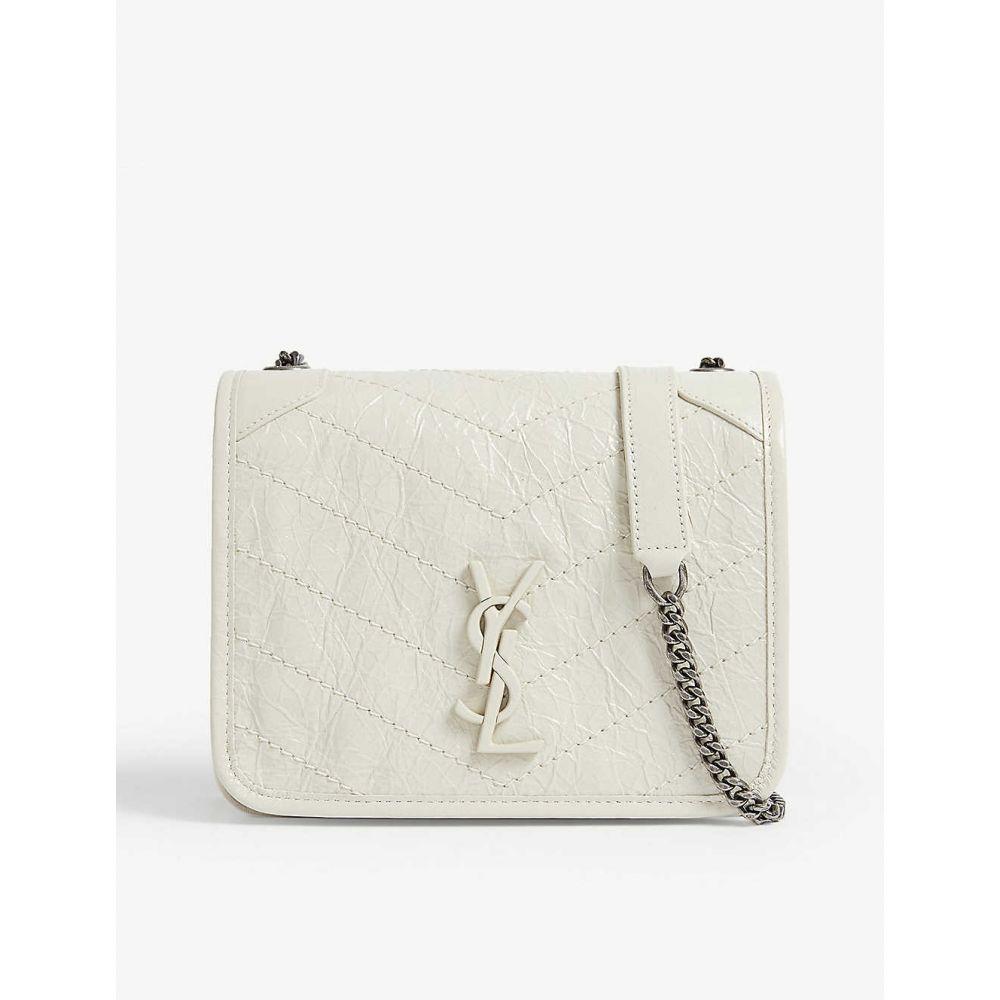 イヴ サンローラン SAINT LAURENT レディース ショルダーバッグ バッグ【niki leather wallet-on-chain】White lthr